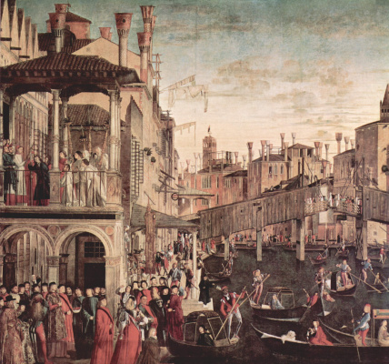 Vittore Carpaccio. Miracle of the relic of the Holy cross