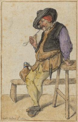 Корнелис Дюсарт. Курящий крестьянин