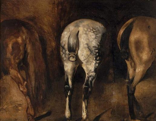 Théodore Géricault. Groats of three horses