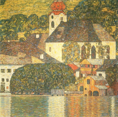 Gustav Klimt. Church in unterach on Attersee lake