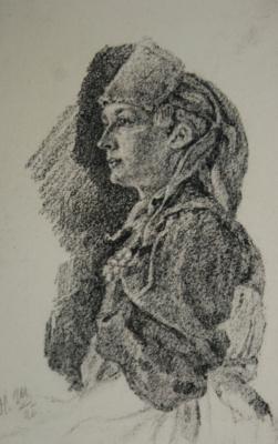 Николай Иванович Шестопалов. Женщина в национальном костюме. 1896
