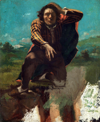 Gustave Courbet. On the edge of the cliff