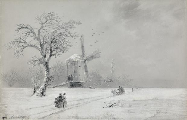 Иван Константинович Айвазовский. Зима в Украине