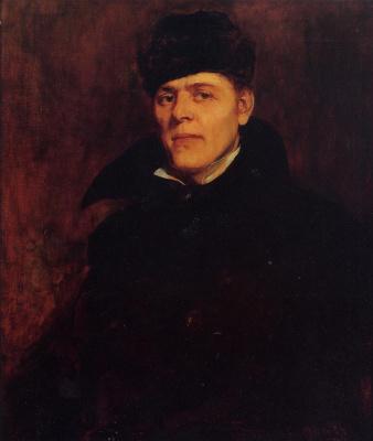 Фрэнк Дувенек. Портрет мужчины в черном