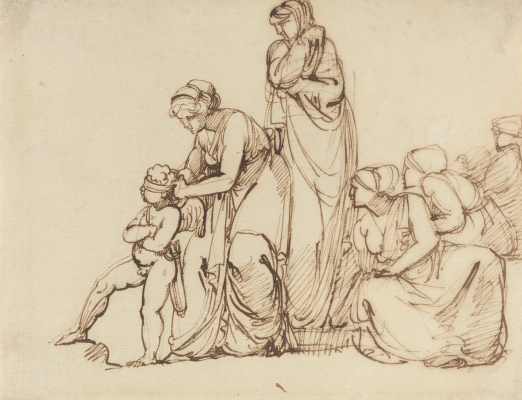 George Romney. Cupid is blindfolded. Sketch