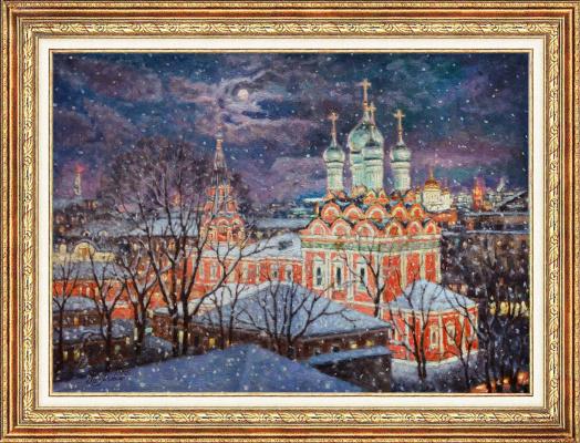 Igor Razzhivin. Snowfall over Moscow