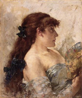 Тео ван Рейссельберге. Портрет дамы с веером