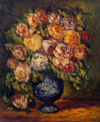 Arturo Souto. A bouquet of flowers in a blue vase