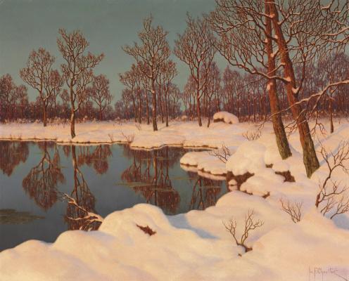 Ivan Fedorovich Schultze. Winter sunset