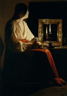 Georges de La Tour. The Grieving Mary Magdalene
