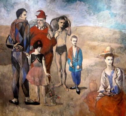 Pablo Picasso. Family comedians