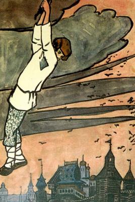 "Elena Dmitrievna Polenova. Illustration for ""Russian folk tales and rhymes"""