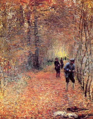 Claude Monet. Hunting (Shot)