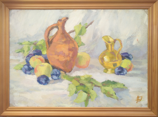 "Anna Valerievna Dolganova. ""Still Life with Georgian Jugs"""