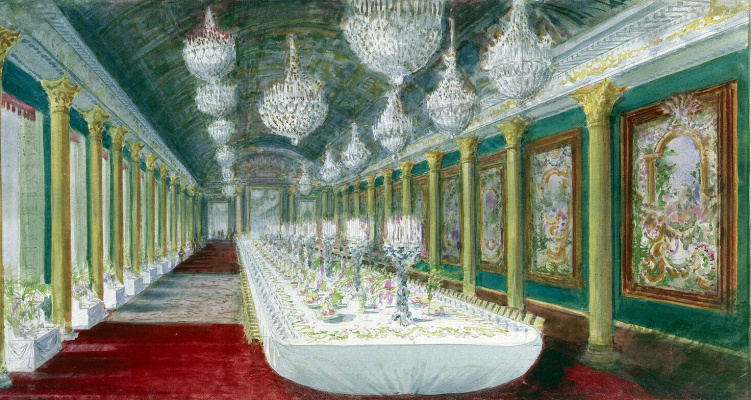 Павел Яковлевич Пясецкий. Стол для торжественного обеда в бальном зале