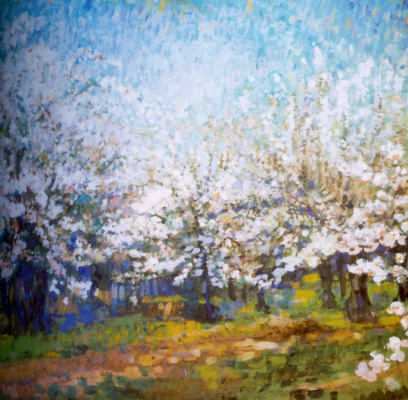 Николай Николаевич Сапунов. Цветущие яблони