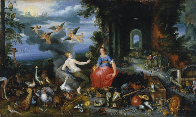Frans Franken the Younger. Allegory of air and fire. About 1630 (together with the workshop of Jan Breughel Ml)