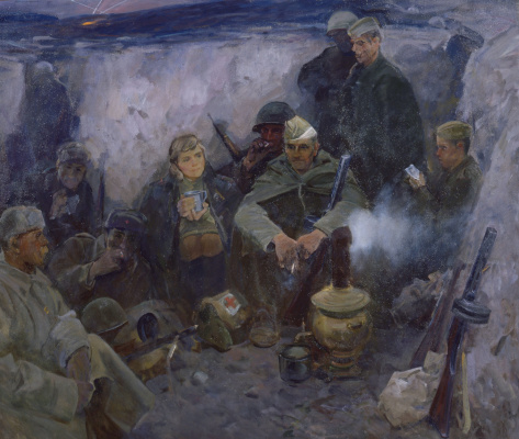Владимир Бадчериевич Таутиев. В минуты затишья