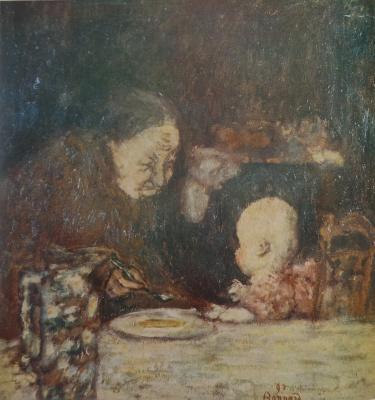 Пьер Боннар. Бабушка и ребенок