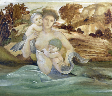 Edward Coley Burne-Jones. Mermaid with children