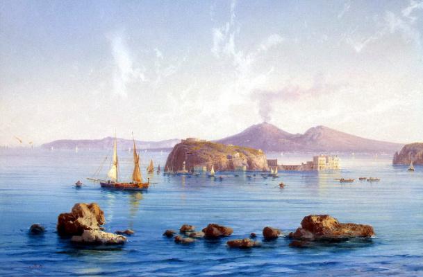 Акилле Карелли. Побережье Салернского залива у Сорренто