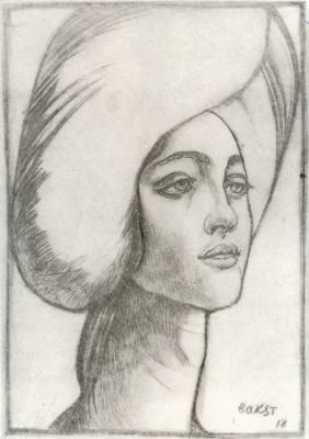 Lev Samoilovich Bakst (Leon Bakst). Portrait of Madame T.