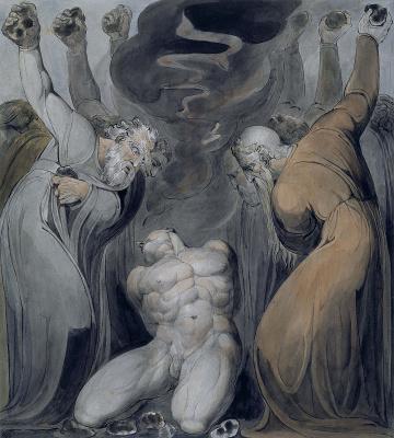 William Blake. Illustrations of the Bible. Blasphemer
