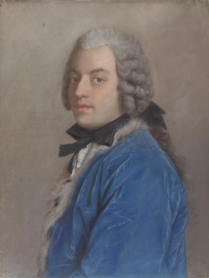 Jean-Etienne Lyotard. A portrait of the writer and philosopher Francesco Algarotti