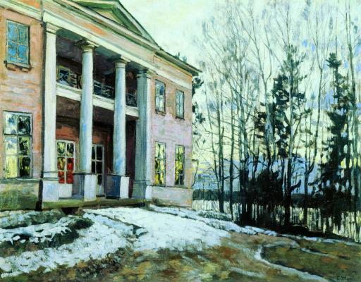 Stanislav Yulianovich Zhukovsky. HOMESTEAD. Reflections of sunset