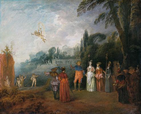 Antoine Watteau. Landing on Kythira