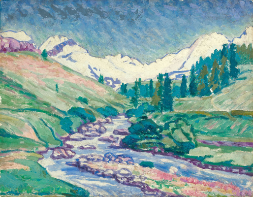 Giovanni Giacometti. Early summer in the Upper Engadine