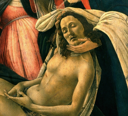 Sandro Botticelli. The lamentation of Christ (detail)