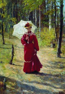 Fedor Vasilyevich Sychkov. Female portrait. 1903 Mordovia Republican Museum of Fine Arts. S. D. Erzya