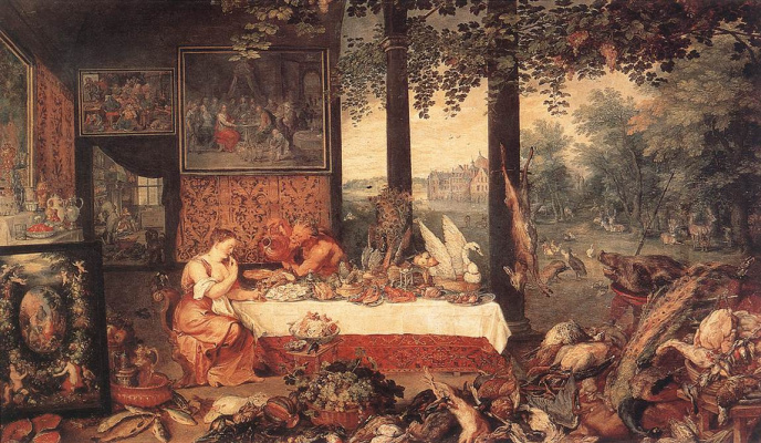 Jan Bruegel The Elder. The sense of taste