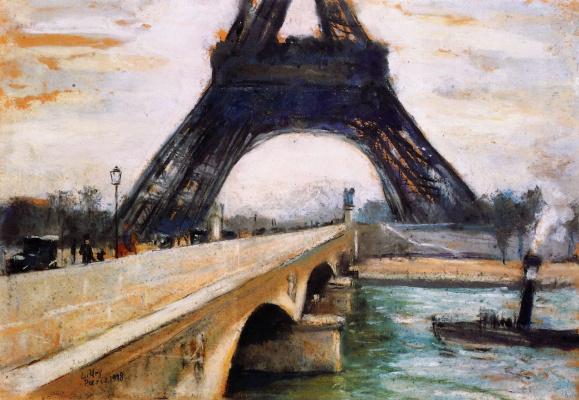 Lesser Ury. Eiffel tower