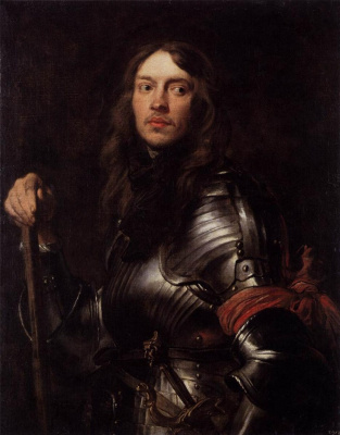 Anthony van Dyck. Portrait of a knight with a red bandage