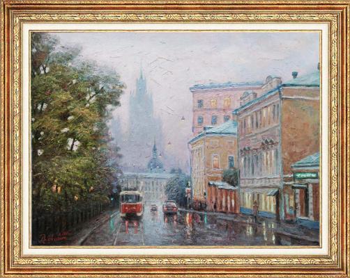 "Igor Razzhivin. ""Tram on Pokrovsky Boulevard"""