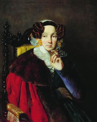 Portrait of M. I. Zhadimirovskaya. 1822