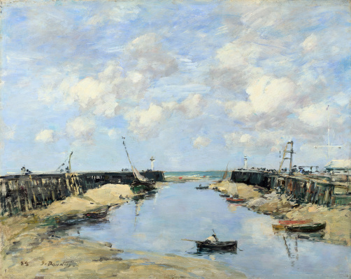 Eugene Boudin. The entrance to the Harbor of Trouville