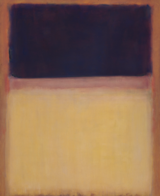 Rothko Mark.  No. 9 (Dark on a light earthy, purple and yellow on pink)