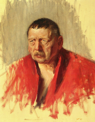Bruno Liljefors. Portrait of the artist Anders Zorn