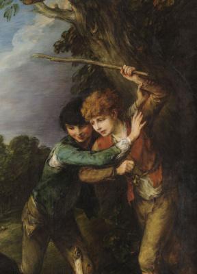 Thomas Gainsborough. Boys-shepherds and fighting dogs. Fragment