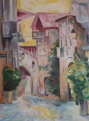 Marianna Borisovna Soina. Spain. Little street
