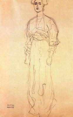 Густав Климт. Стоящая женщина (Эскиз для портрета Маргарет Стонборо-Виттгенштейн)