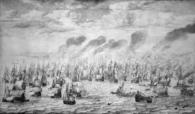 Виллем ван де Вельде Младший. Морское сражение