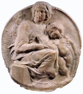 Michelangelo Buonarroti. Madonna Tondo Pitti