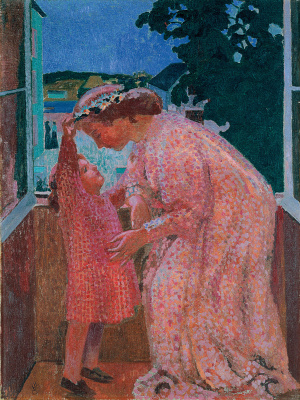 Maurice Denis. The wreath of daisies