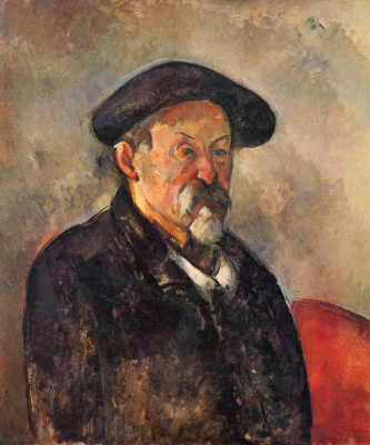 Paul Cezanne. Self-portrait in a beret
