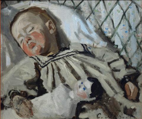 Claude Monet. Jean Monet Sleeping
