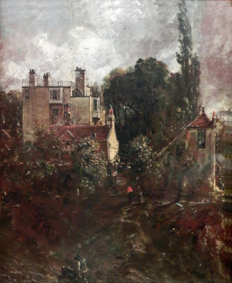John Constable. The garden and house of the Admiral in Hampstead